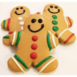 "Gingerbread Men Dog Treat (4"" x 3 1/2"")"
