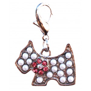 Pearly Dog Charm