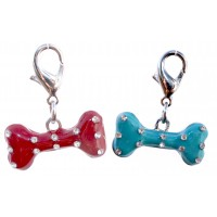Diamante Bone Dog and Cat Charm