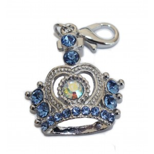 Jeweled Crown Dog or Cat Charm