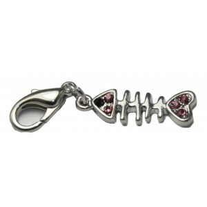 Diamante Fish Charm