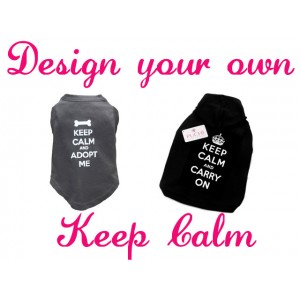 "Design Your Own - ""Keep Calm and Carry on"" T-Shirt"
