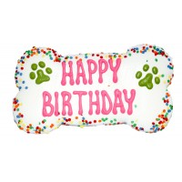 Giant Happy Birthday Dog Bone size
