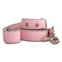 Monte Carlo Dog Lead in Powder Pink