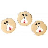 Three Wise Dog Cup Cake Treats x 3