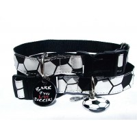 Bark if you Love Football Adjustable Dog Collars