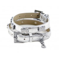 Platinum Bone Dog Collar