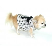 Polka Dot Dress in White and Black