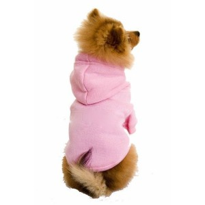 Plain Dog Hoodies in Baby Pink