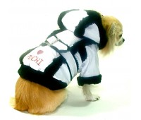 Regent St Raincoat White with Black fur trim