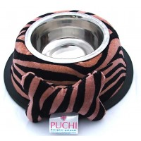 Tiger Dining Bowl with Detachable Cuddly Bone Toy (Anti Slip)