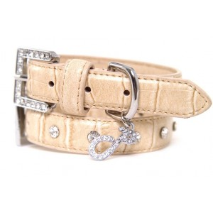 Cream of the Croc Dog Collar