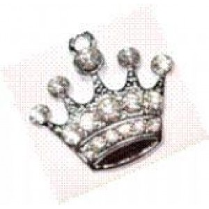 Clear Diamante Crown Clear ID Tags or Charms for Cats or Dogs