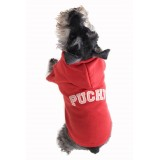 Puchi Cuddles Dog Hoodie in Red