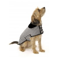 Dogtooth Check Dog Coat