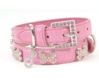 Ooh La La Crystal Dog Collar (Pink)