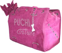 Puchi Couture Pet Carrier in Hot Pink Suede