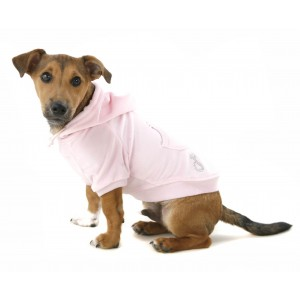 Pretty In Pink Velour Dog Hoodie