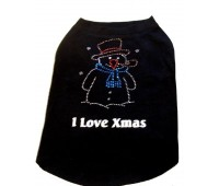 Christmas Diamante Snowman T-Shirt