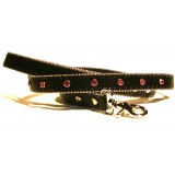 Monte Carlo Lead in Vulcan Black with red diamantes