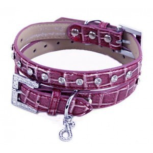 "Imperial Purple Dog Collar Medium (11-14"")"