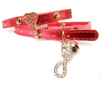Vibrant red Swarovski Heart collar