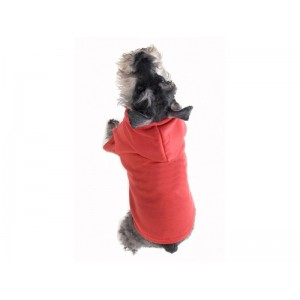 Plain Dog Hoodies in Red