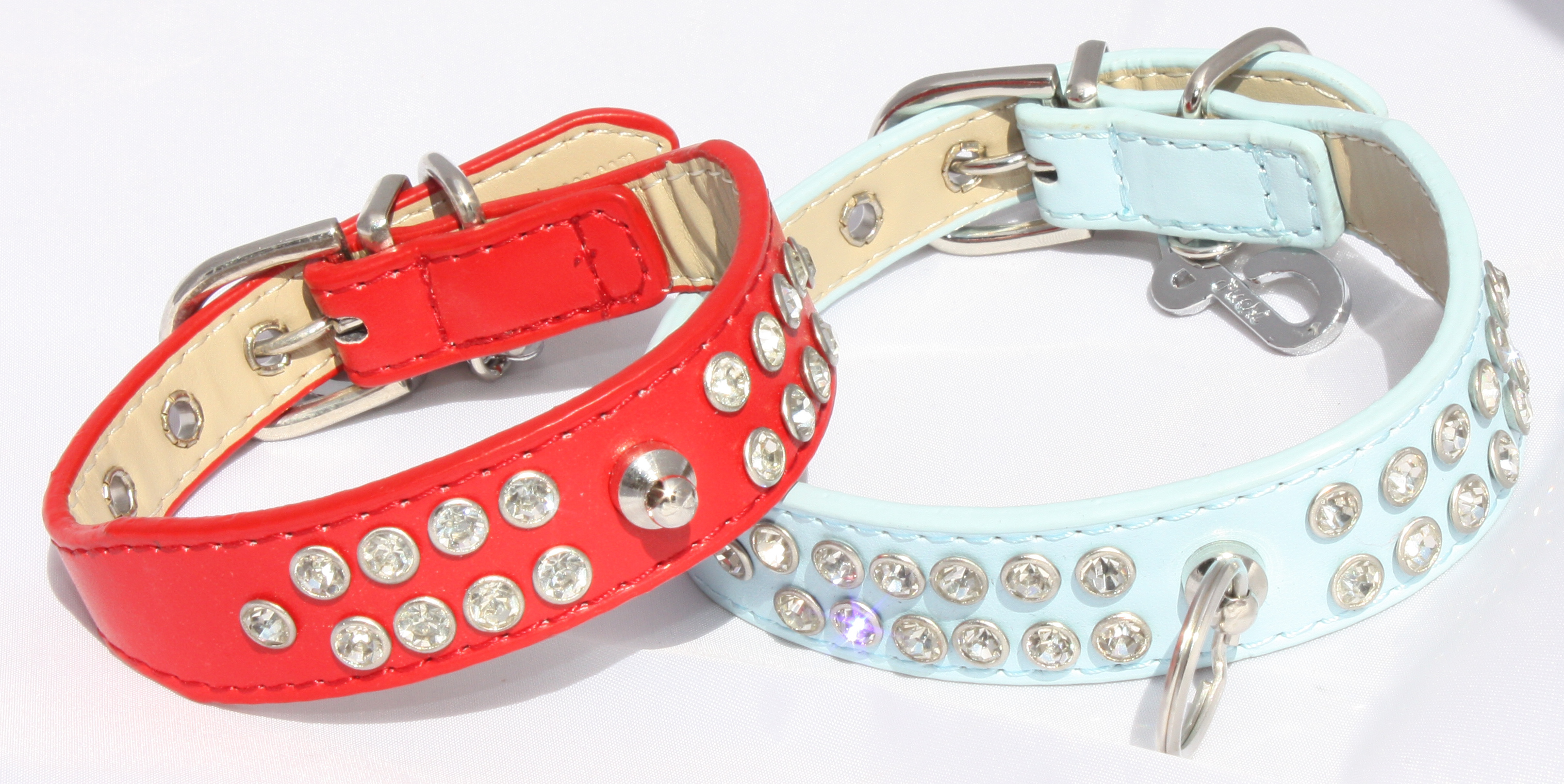 Leads & Harnesses Red Diamante Dog Collar -  Small (9